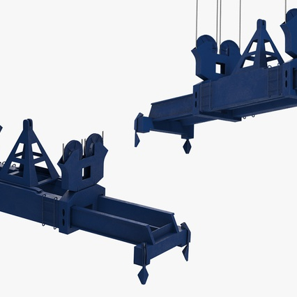 Container Crane Blue. Render 32