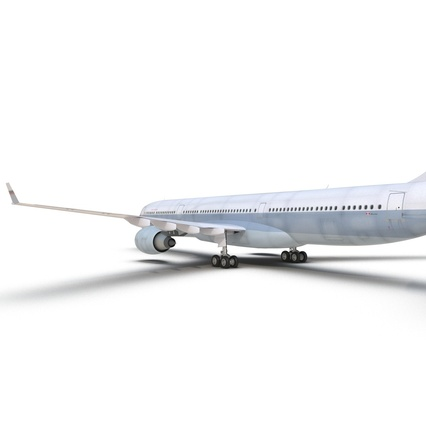 Jet Airliner Airbus A330-300 Cathay Pacific Rigged. Render 31