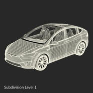 Tesla Model X Rigged. Preview 75