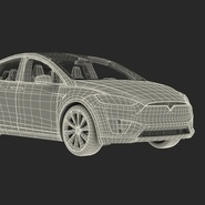 Tesla Model X Rigged. Preview 92