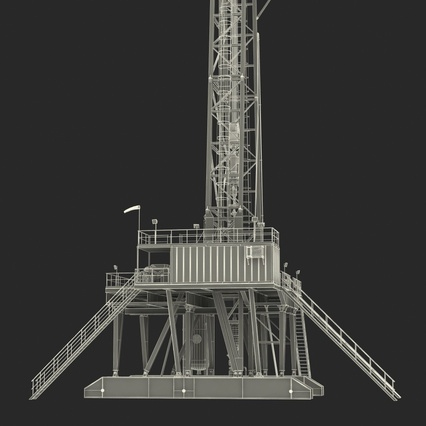 Fracking Gas Platform. Render 48