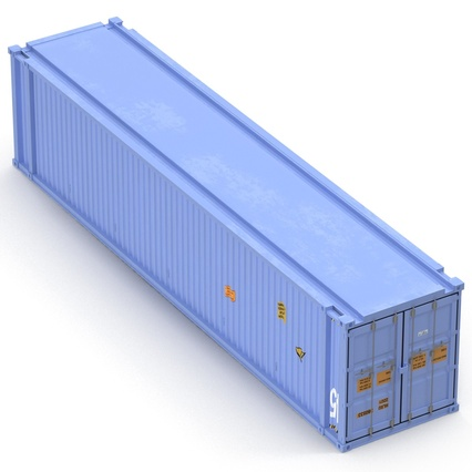 45 ft High Cube Container Blue. Render 15
