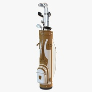 Golf Bag and Clubs 3