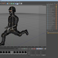 SWAT Man Mediterranean Rigged for Cinema 4D. Preview 43