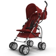 Baby Stroller Red. Preview 9