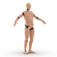 Male Crash Test Dummy Rigged for Cinema 4D. Preview 7