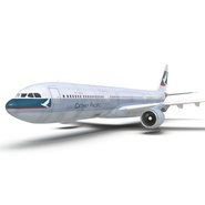 Jet Airliner Airbus A330-300 Cathay Pacific Rigged. Preview 28