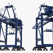 Container Crane Blue. Preview 8