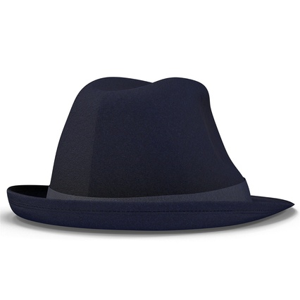 Fedora Hat Blue. Render 15