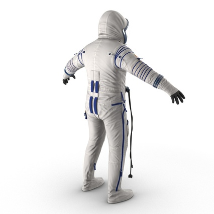 Russian Astronaut Wearing Space Suit Sokol KV2 Rigged for Maya. Render 11