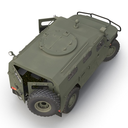 Russian Mobility Vehicle GAZ Tigr M Rigged. Render 23