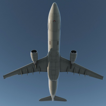 Jet Airliner Airbus A330-300 Northwest Airlines Rigged. Render 12