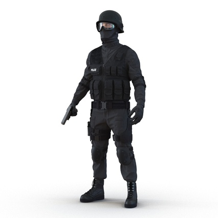 SWAT Man Mediterranean Rigged for Maya. Render 5