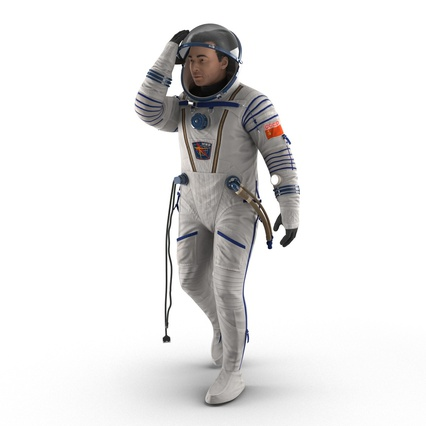 Russian Astronaut Wearing Space Suit Sokol KV2 Rigged for Maya. Render 19