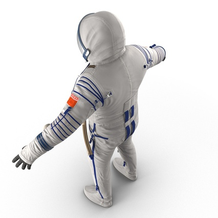 Russian Astronaut Wearing Space Suit Sokol KV2 Rigged for Maya. Render 21