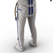 Russian Astronaut Wearing Space Suit Sokol KV2 Rigged for Maya. Preview 43