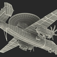 Grumman E-2 Hawkeye Tactical Early Warning Aircraft Rigged. Preview 30