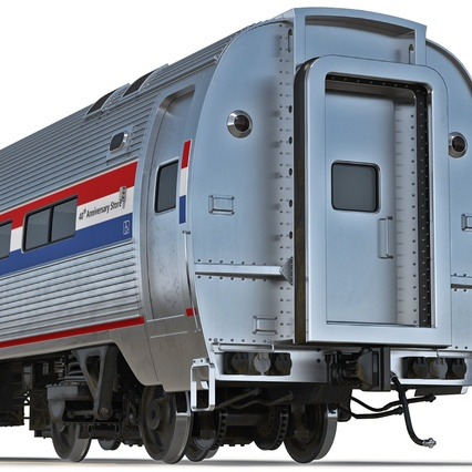Railroad Amtrak Passenger Car 2. Render 22