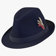 Fedora Hat 2 Blue