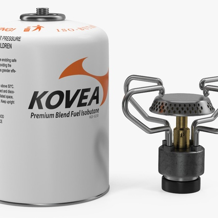 Gas Cylinder with Camping Stove Kovea. Render 6