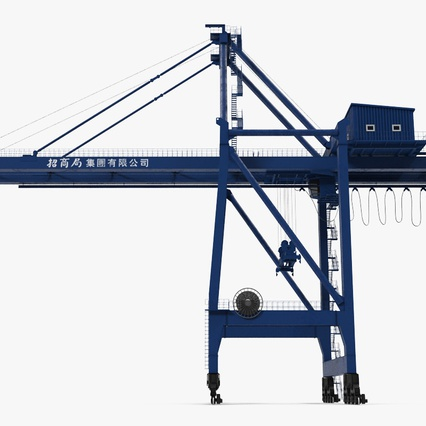 Container Crane Blue. Render 5