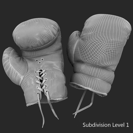 Old Leather Boxing Glove(1). Render 27