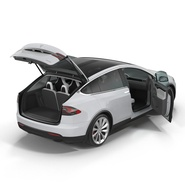 Tesla Model X Rigged. Preview 14