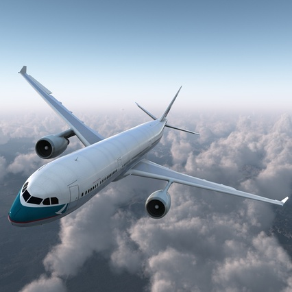 Jet Airliner Airbus A330-300 Cathay Pacific Rigged. Render 2