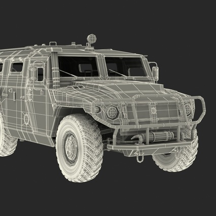 Russian Mobility Vehicle GAZ Tigr M Rigged. Render 79