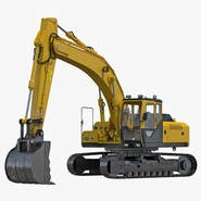 Tracked Excavator Rigged