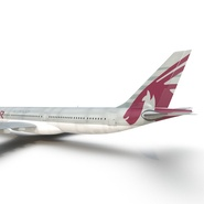 Jet Airliner Airbus A330-300 Qatar Rigged. Preview 40