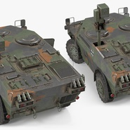 Fennek German Reconnaissance Vehicle Rigged. Preview 13