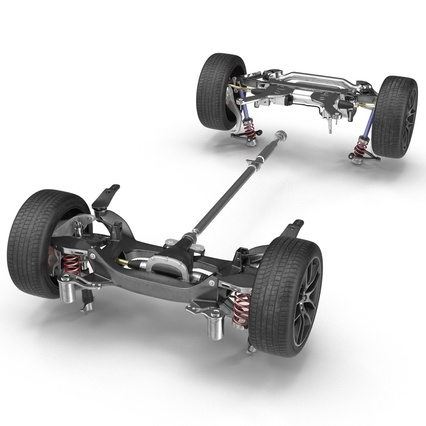 Sedan Chassis. Render 13