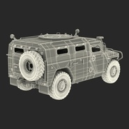 Russian Mobility Vehicle GAZ Tigr M Rigged. Preview 75