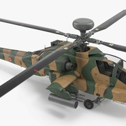 AH-64D Apache Longbow Japan Rigged. Preview 11