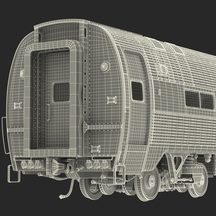 Railroad Amtrak Passenger Car 2. Render 60