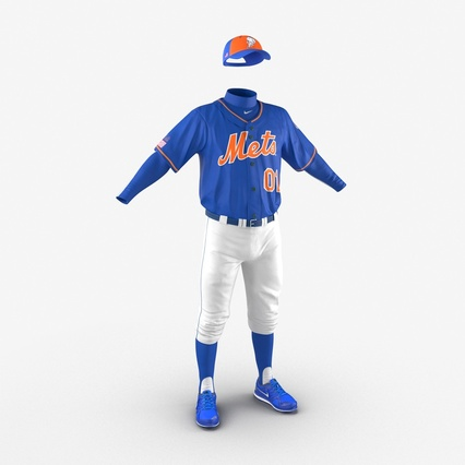 Baseball Player Outfit Mets 2. Render 10