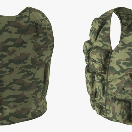 Military Camouflage Vest. Render 6