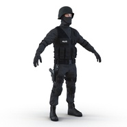 SWAT Man Mediterranean Rigged for Cinema 4D. Preview 11
