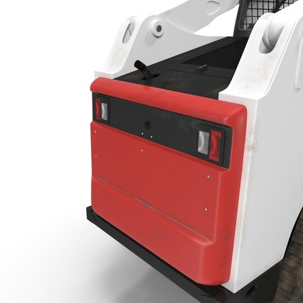 Compact Tracked Loader with Auger. Render 29