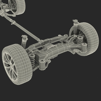 Sedan Chassis. Render 51
