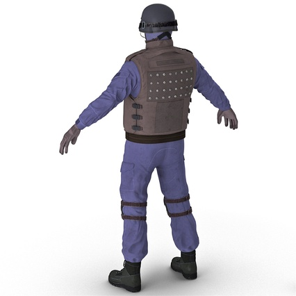 SWAT Uniform. Render 8