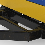 Airport Transport Trailer Low Bed Platform Rigged. Preview 9