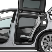 Tesla Model X Rigged. Preview 62