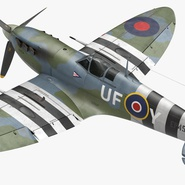 Royal Air Force Fighter Supermarine Spitfire LF Mk IX Rigged. Preview 2