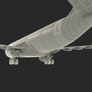 Jet Airliner Airbus A330-200 Northwest Airlines Rigged. Preview 68
