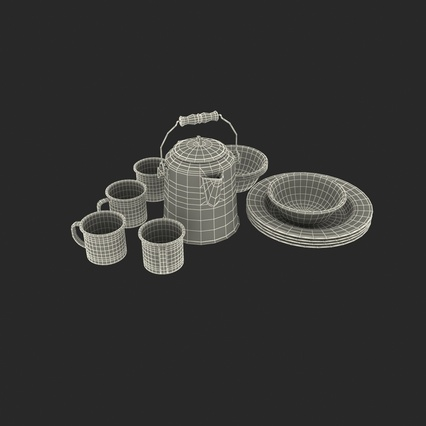 Camping Cookware. Render 4