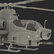 Attack Helicopter Bell AH 1Z Viper Rigged. Preview 106