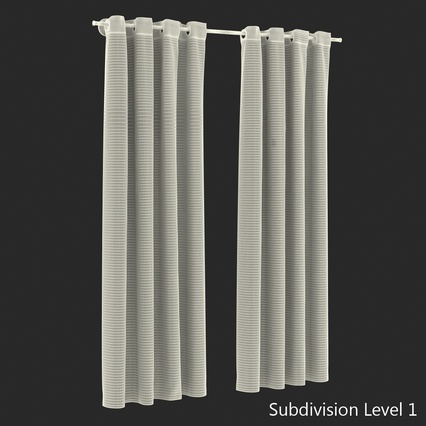 Curtains Collection. Render 59
