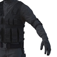 SWAT Man Mediterranean Rigged for Cinema 4D. Preview 28